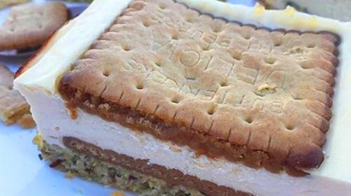 Butterkeks Cheesecake Proteinschnitte